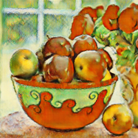Photo to Cezanne's Oil Painting